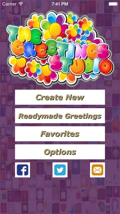 The Greetings Studio- Creative Greeting Cards Making App