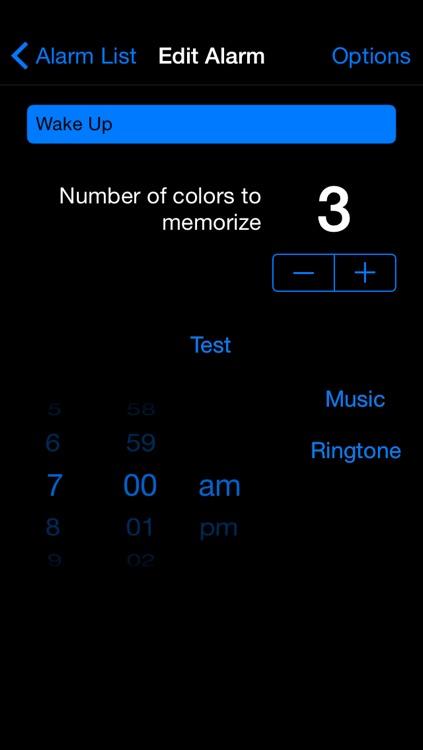 Memory Alarm Clock - Black Edition screenshot-3