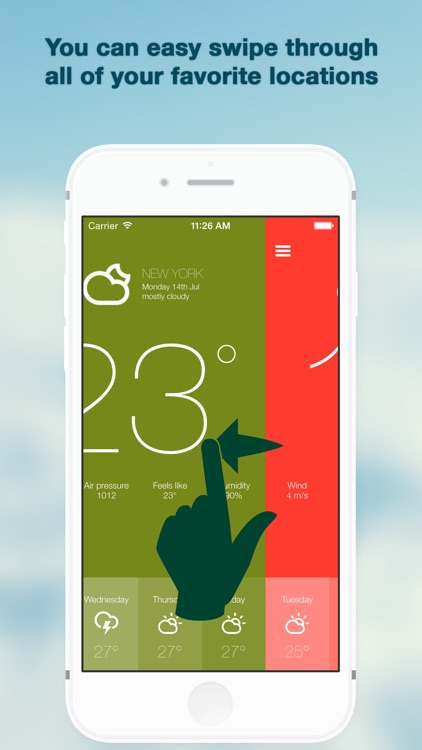 Weather forecast made simple - Sunshine screenshot-1