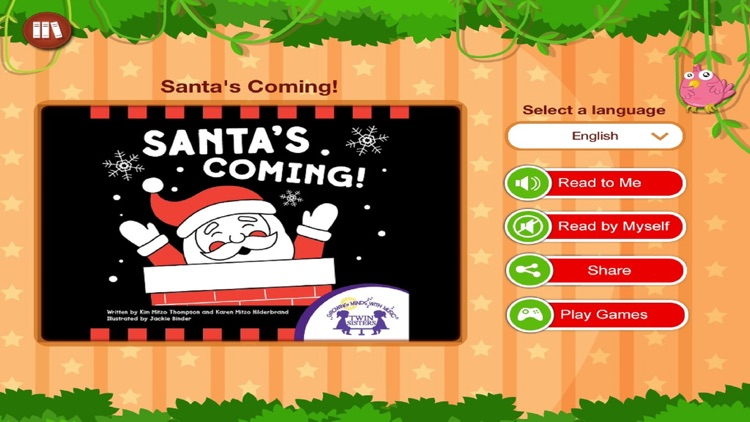 Santa's Coming by Twin Sisters - Read along interactive Christmas stories for Kids, Parents and Teachers