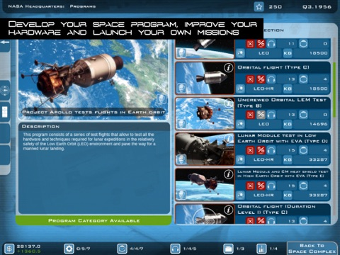 Screenshot #1 for Buzz Aldrin's Space Program Manager