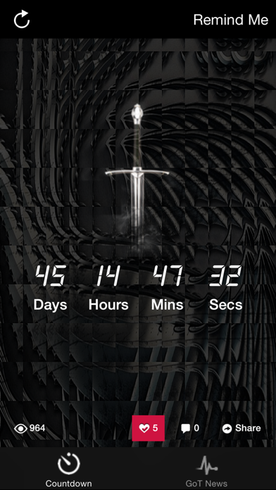 Countdown - for Game of Thrones