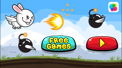 Aaah! It's Flappy the Crazy Rabbit Vs Angry Clumsy Bombs! HD Free screenshot one