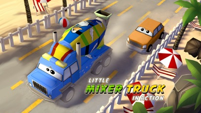 A Little Mixer Truck in Action Free: 3D Cartoonish