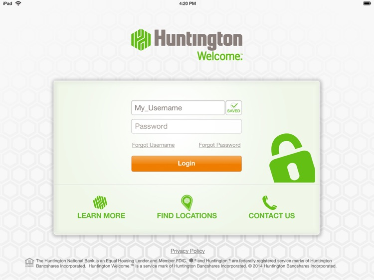 Huntington Mobile for iPad