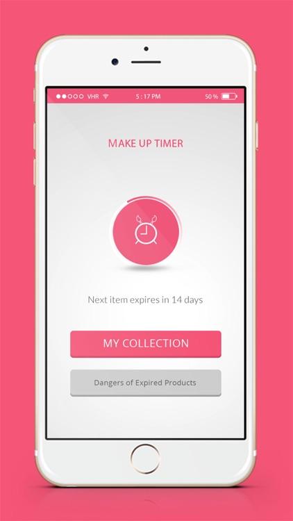Makeup Expiration App - Countdown Timer