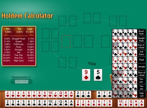 Free Holdem Calculator Скриншоты10