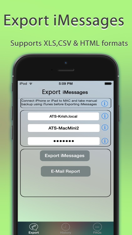 Export Messages - Save Print Backup Recover Text SMS iMessages