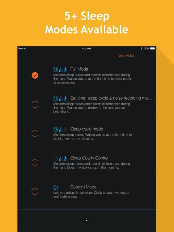 Smart Alarm Clock HD: sleep cycles and night sounds recording