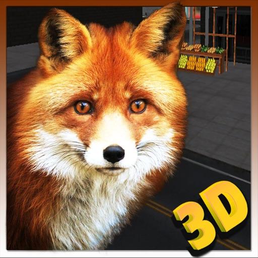 дикий лиса симулятор 3D - играть в красной охоты на лис и украсть товары в фруктовых киосков