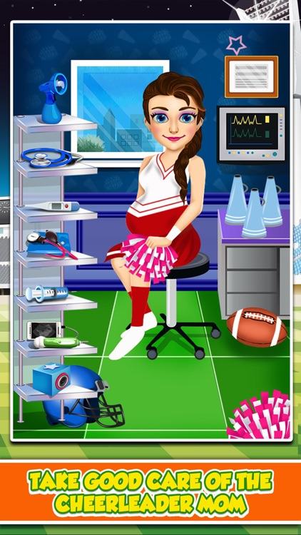 Cheerleader Mommy's Baby Doctor Salon - Makeup Spa Prom Games for Girls!
