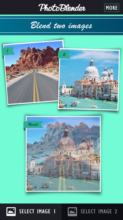 PhotoBlender - Double exposure pic blender used to blend, morph, mix, overlap, and alter yr images with this arty cloning picture app for FB. Not affiliated with Photoshop or Illustrator! Free!