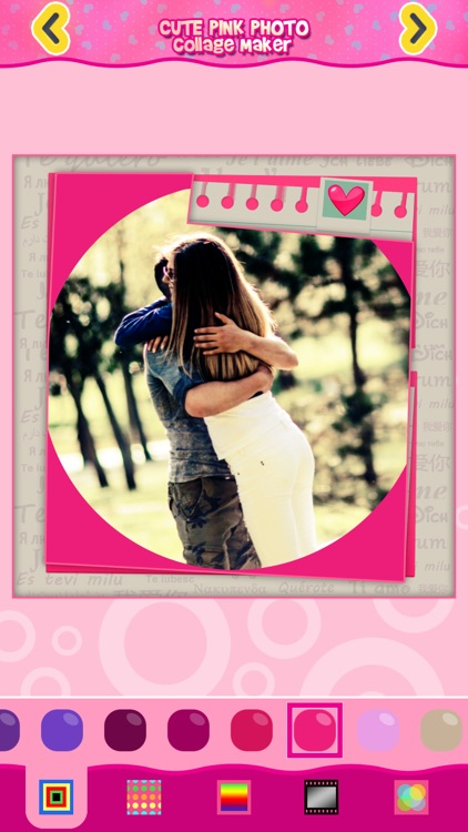 Cute Pink Photo Collage Maker: Adorable photo editor for girls with lots of photo frames, background color themes and photo filters screenshot-4
