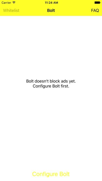 Bolt — Ad-blocker within Safari
