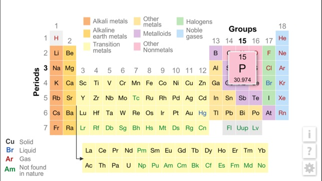 K12 periodic table of the elements on the app store iphone ipad urtaz Images