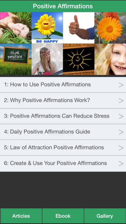Positive Affirmations Guide - Change Your Life Through Positive Affirmations!