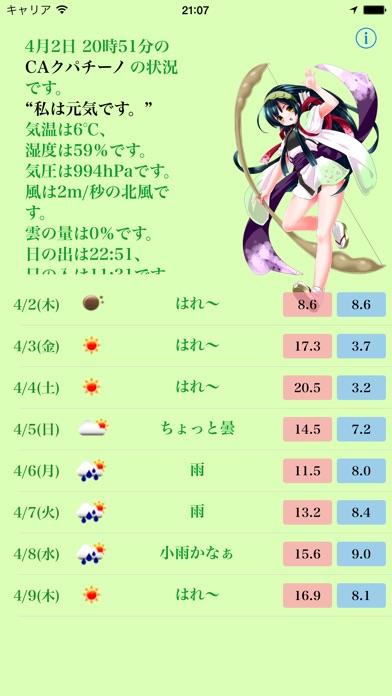 お天気ずん子のスクリーンショット1