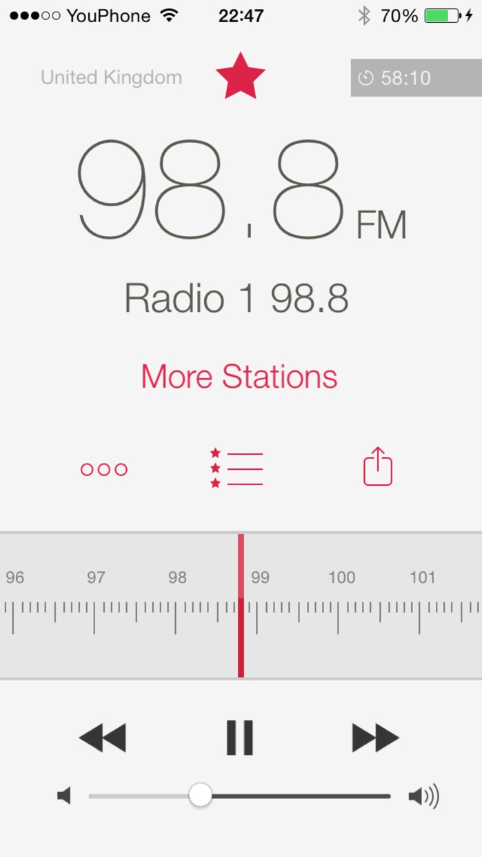 RadioApp - A simple radio for iPhone and iPod touch Screenshot