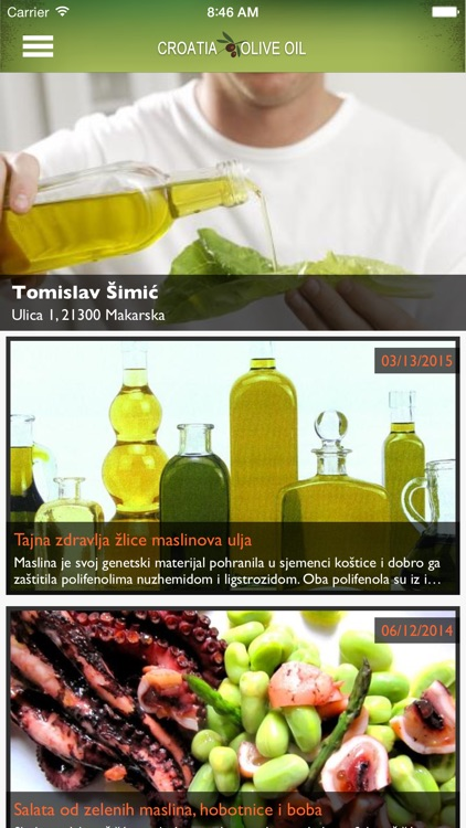 Croatia Olive Oil