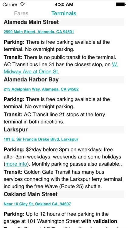 SF Bay Ferry Times screenshot-4