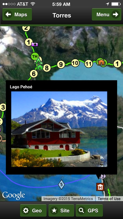 Torres del Paine Park Map