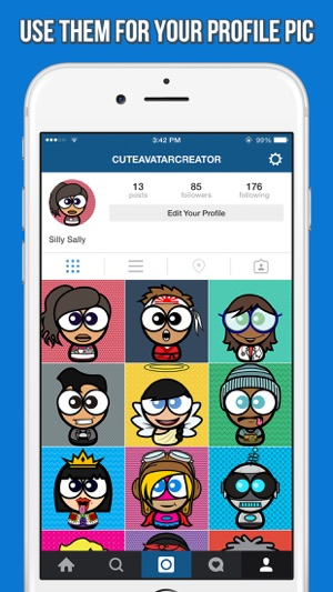 Cute Avatar Creator Make Funny Cartoon Characters For Your