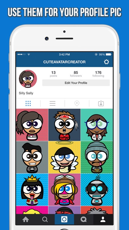 Cute Avatar Creator - Make Funny Cartoon Characters for Your Contacts or Profile Picture