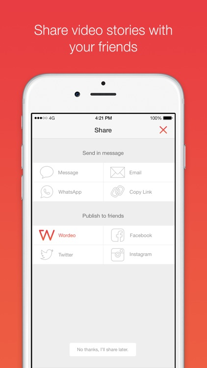 Wordeo: Upload & edit videos to create & share e-cards with your friends screenshot-4