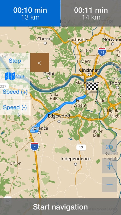 Kentucky Offline Map & Navigation & POI with Real Time Traffic Cameras Pro screenshot-3