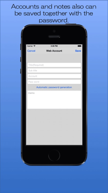 Password Memory -The Simple Password Manager- screenshot-3