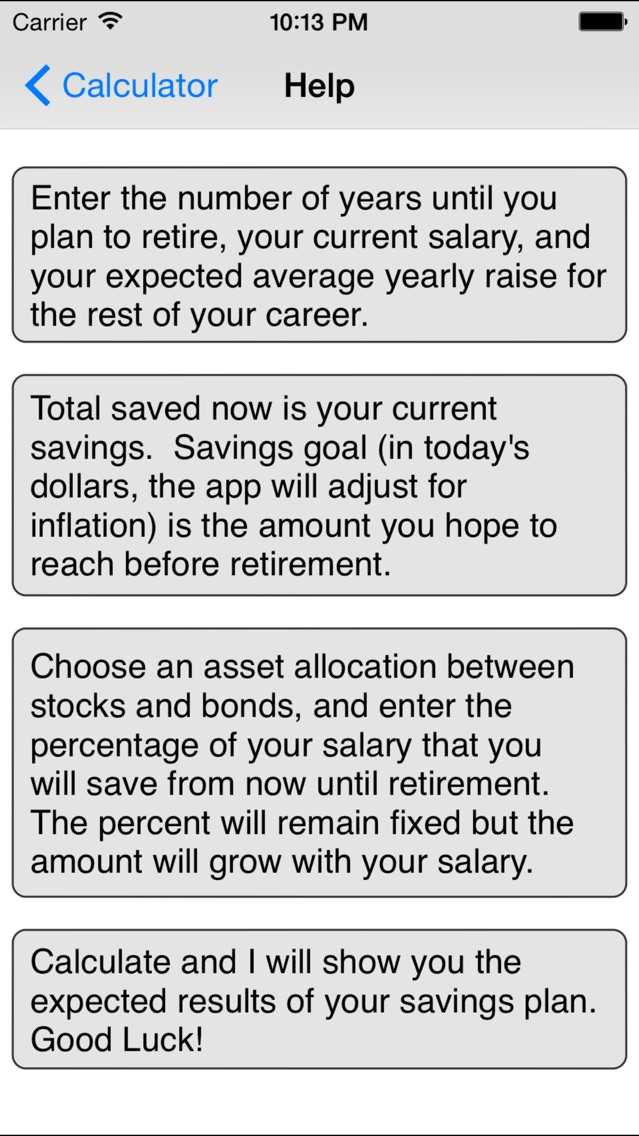 ... Retirement Savings Calculator Lite