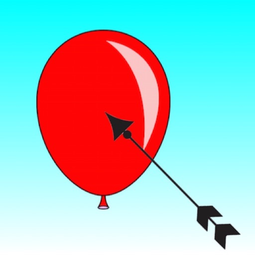 Aim And Shoot Balloon With Bow - No Bubble In The Sky Free icon
