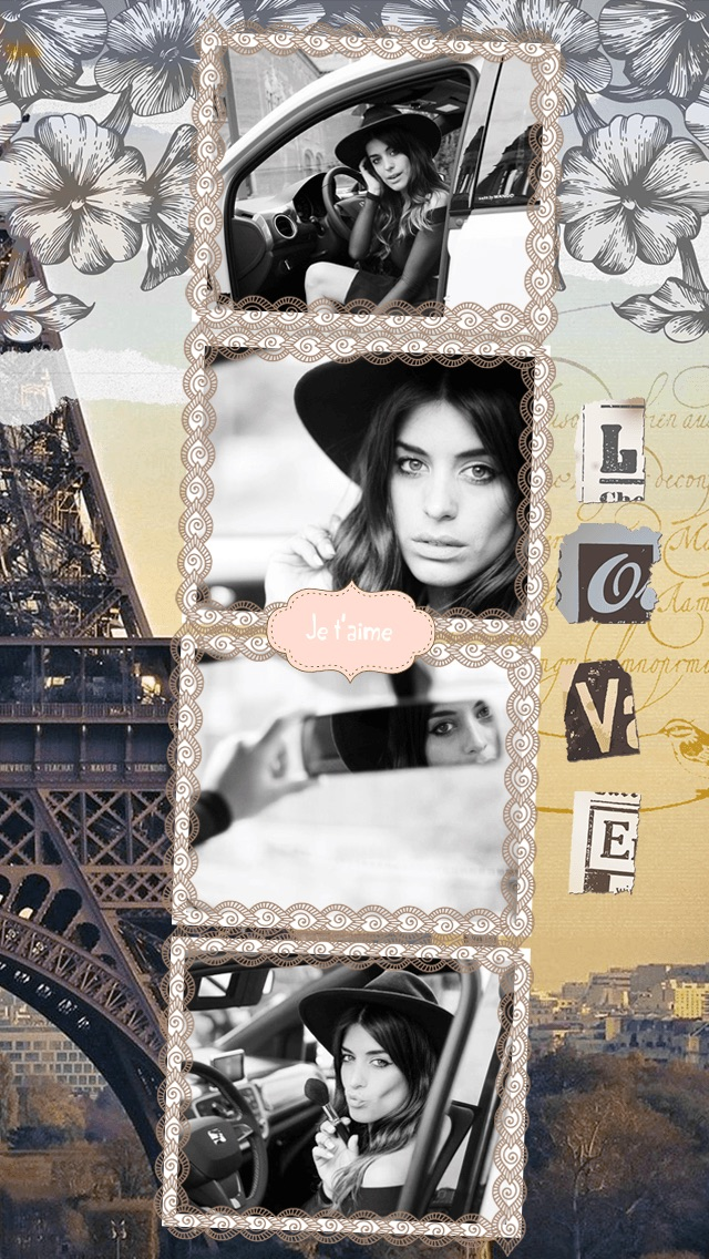 Paris Cam - The Chic arty love Foto Collage Kamera for a beautiful scrapbook selfies pic in France-1