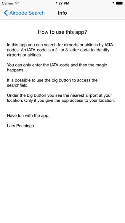Aircode Search screenshot-3