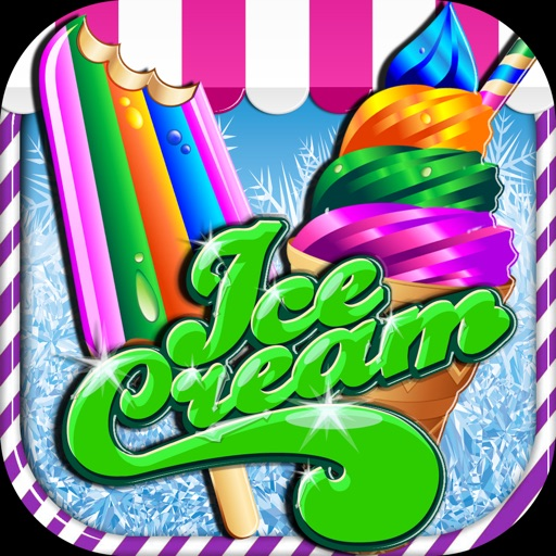 A Arctic Freezing Frosty Ice Cream Parlor - Frozen Treat Maker Icon