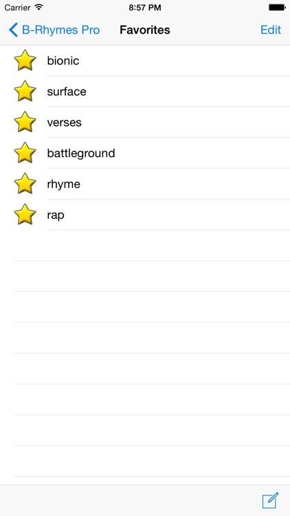 B-Rhymes Dictionary Pro screenshot-3