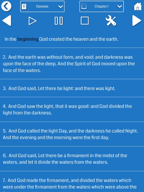Holy Bible Audio for iPad