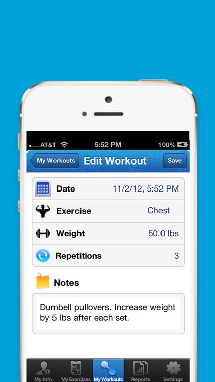 iExercise Journal