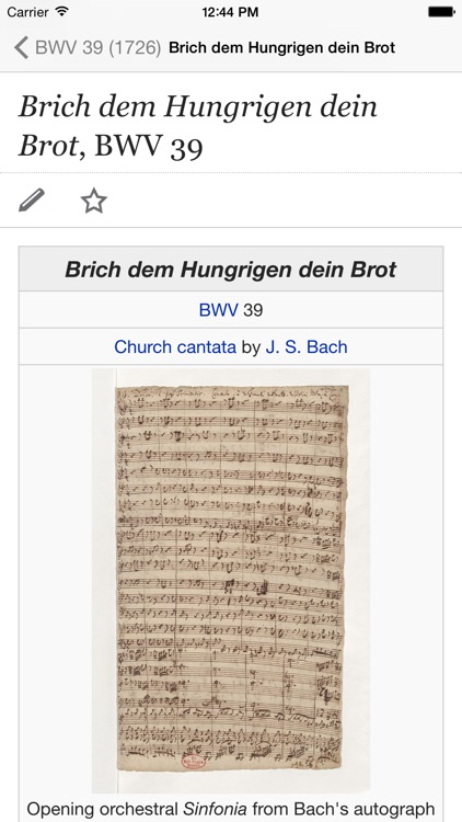 Bach Cantatas screenshot-2