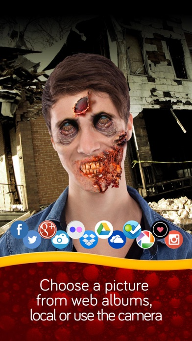 Zombie photo booth screenshot two
