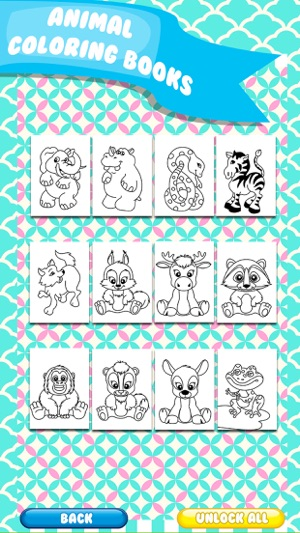 Kids Doodle Animal Coloring Draw Book