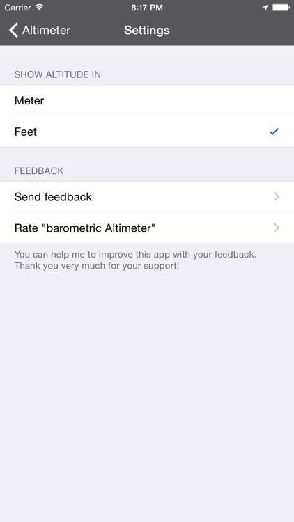 Barometric Altimeter screenshot-3