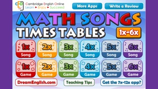 Screenshot 1 For Math Songs Times Tables 1x 6x