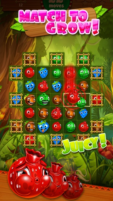Jungle Jam - Juicy Fruit Match-3 Game screenshot one