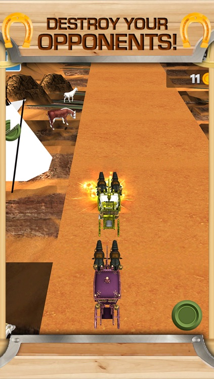 3D Western Stagecoach Wagon Racing Game With Cowboy Driving Fun Racer Games FREE screenshot-3