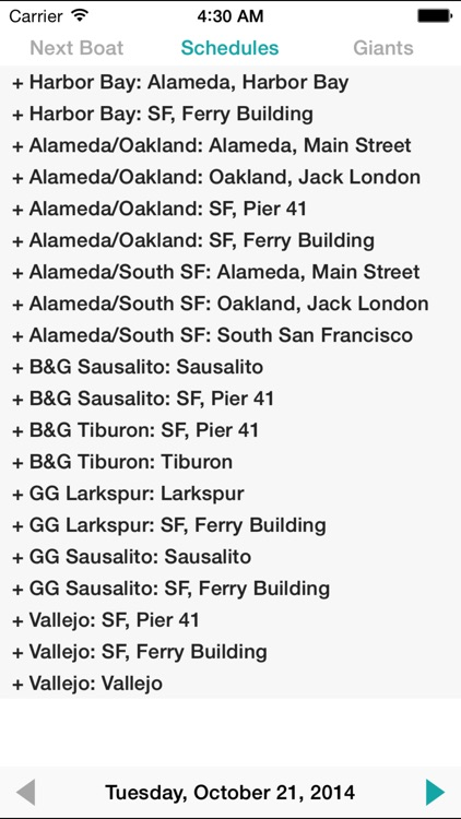SF Bay Ferry Times