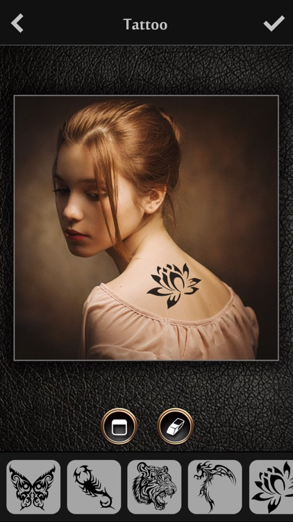Virtual Tattoo Maker FREE - Photo Designer to add artist tattoos & fonts on yr body app image