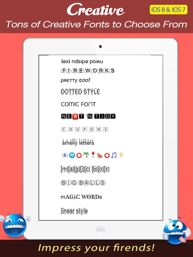 Font keyboard pro new text styles emoji art font for texting on font keyboard pro new text styles emoji art font for texting on the app store altavistaventures Image collections