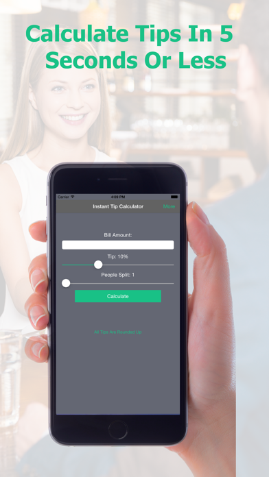Instant Tip Calculator - Quickly Generate Gratuity screenshot one