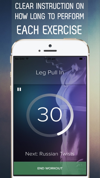 7 Minute Sexy Abs Workout for Fab Abs in 30 Days Screenshot 4